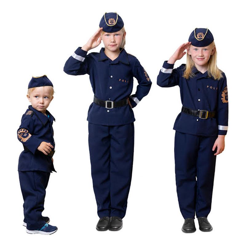 Svensk Polis Barn Maskeraddräkt - Small