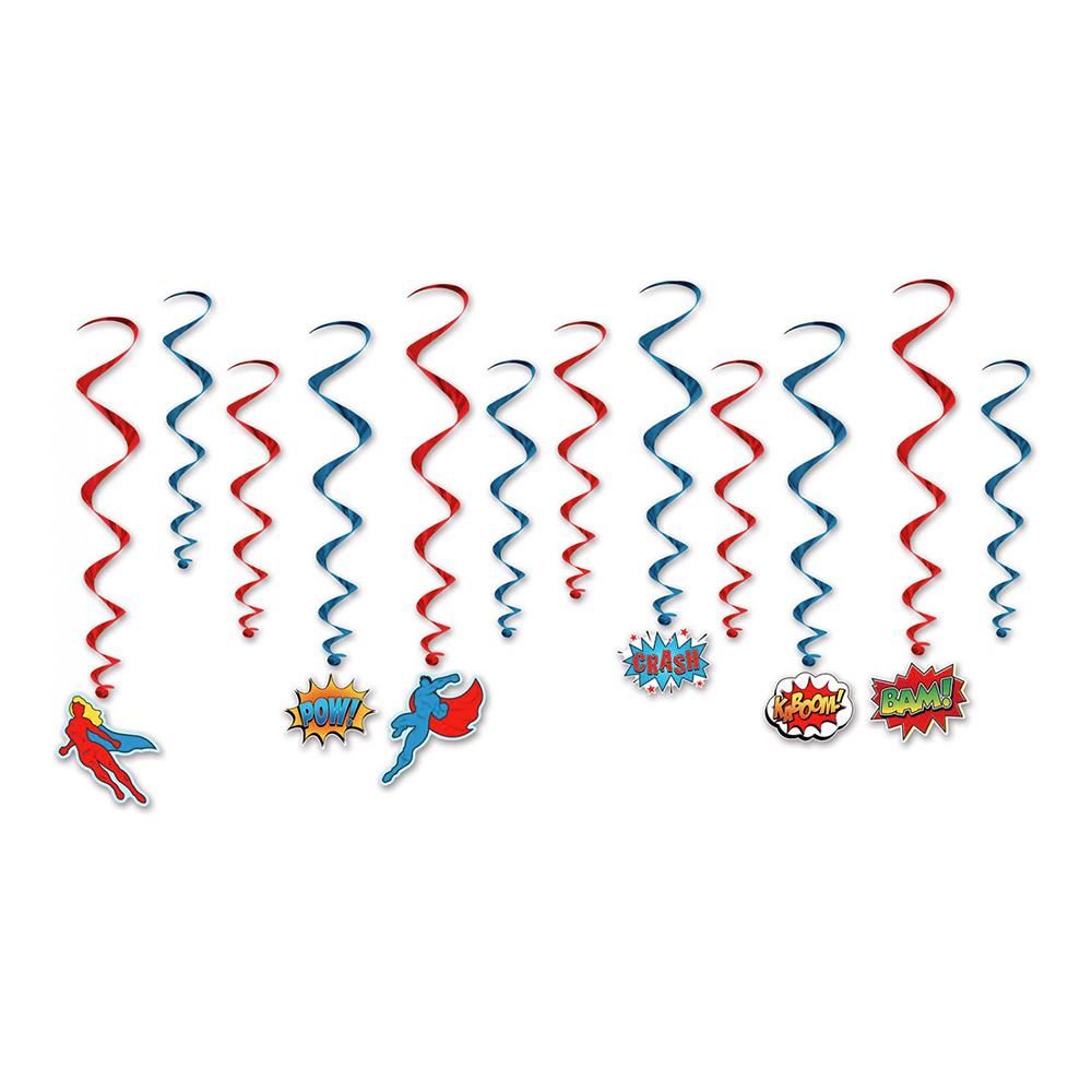 Swirls Comic Hängande Dekoration - 12-pack
