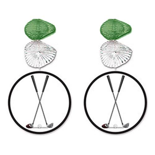 Swirls Golfklubbor Hängande Dekoration - 2-pack | Hem//Roliga Prylar//Hobby & Fritid//Golfprylar | Partyoutlet