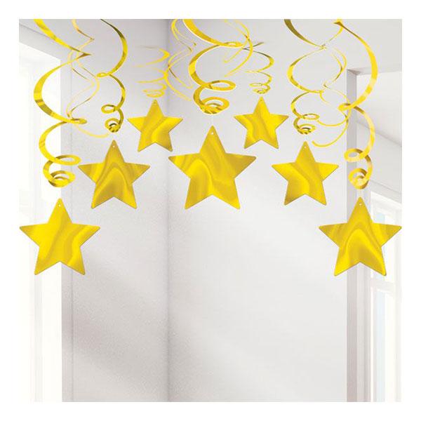 Swirls Guld Stjärnor Hängande Dekoration
