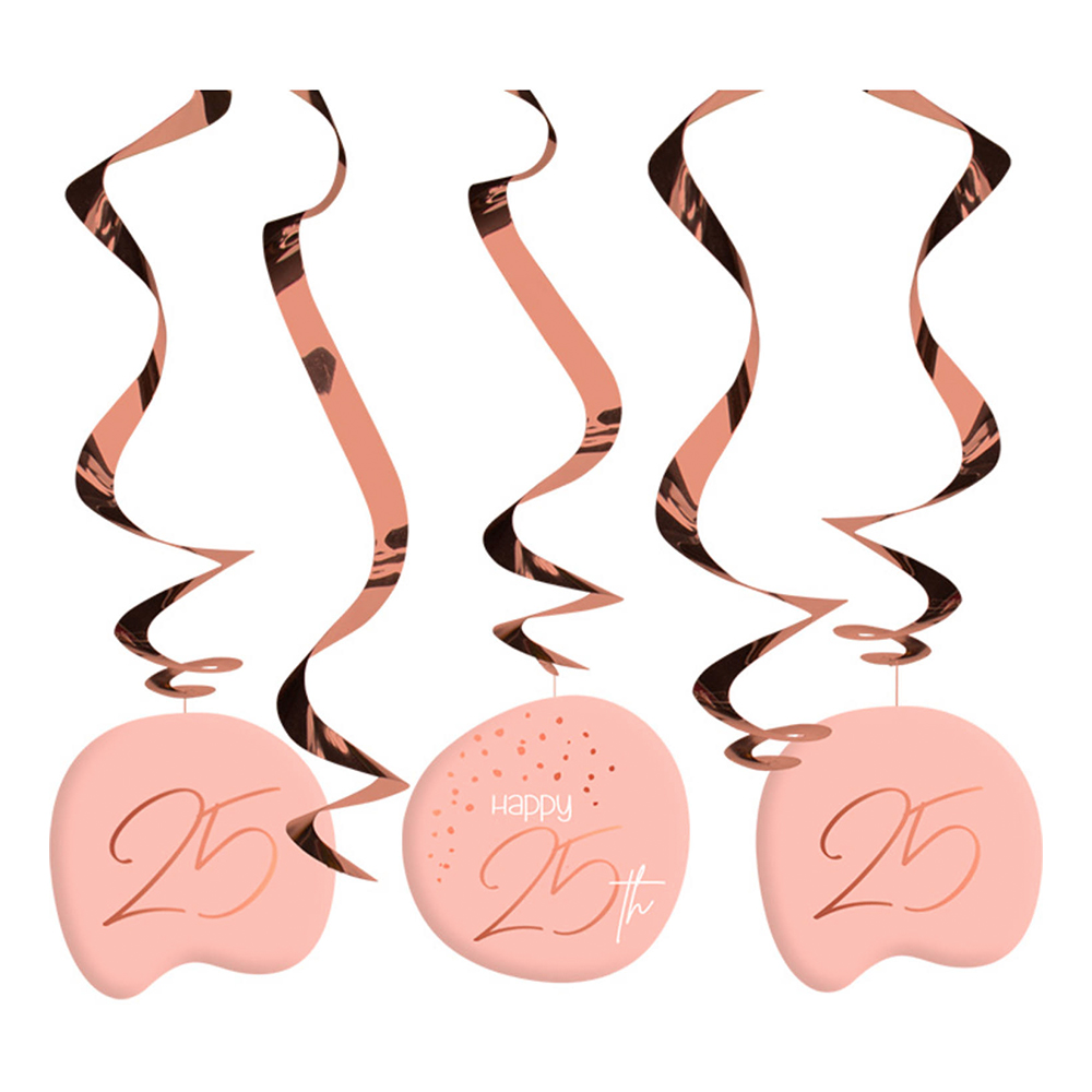 Swirls Happy 25th Lush Blush - 5-pack