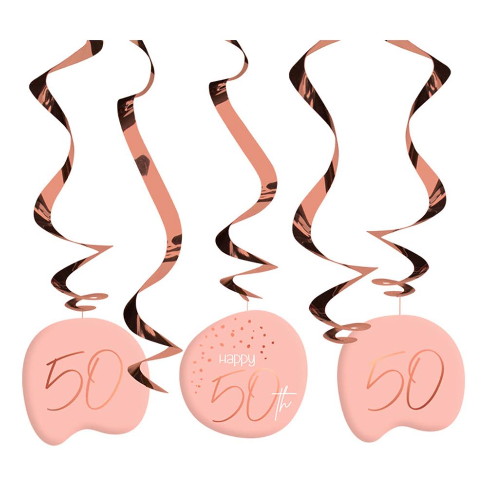 Swirls Happy 50th Lush Blush - 5-pack