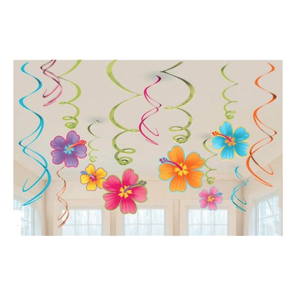 Swirls Hawaii Hängande Dekoration - 12-pack