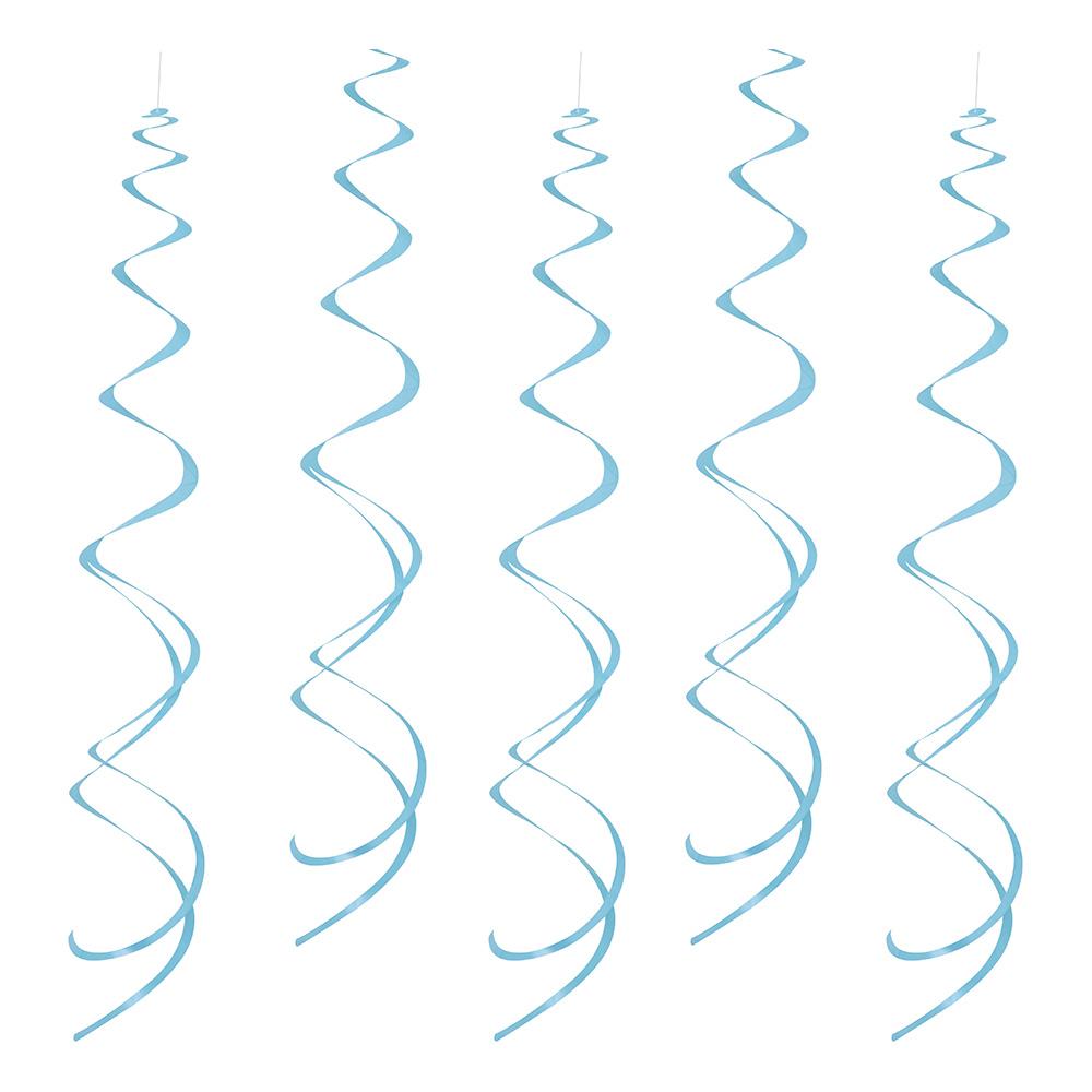 Swirls Ljusblå Hängande Dekoration - 8-pack