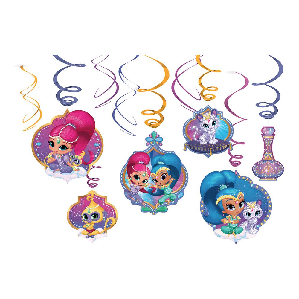 Swirls Shimmer & Shine Hängande Dekoration - 6-pack
