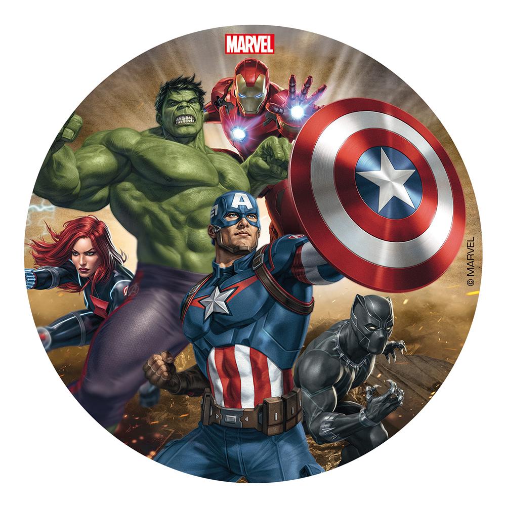 Tårtbild Avengers - 16 cm