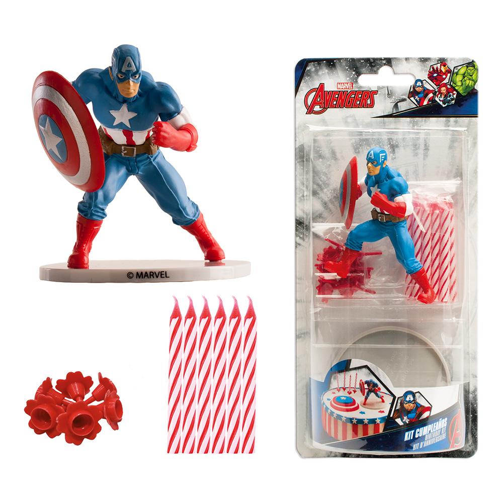 Tårtdekoration Captain America Kit