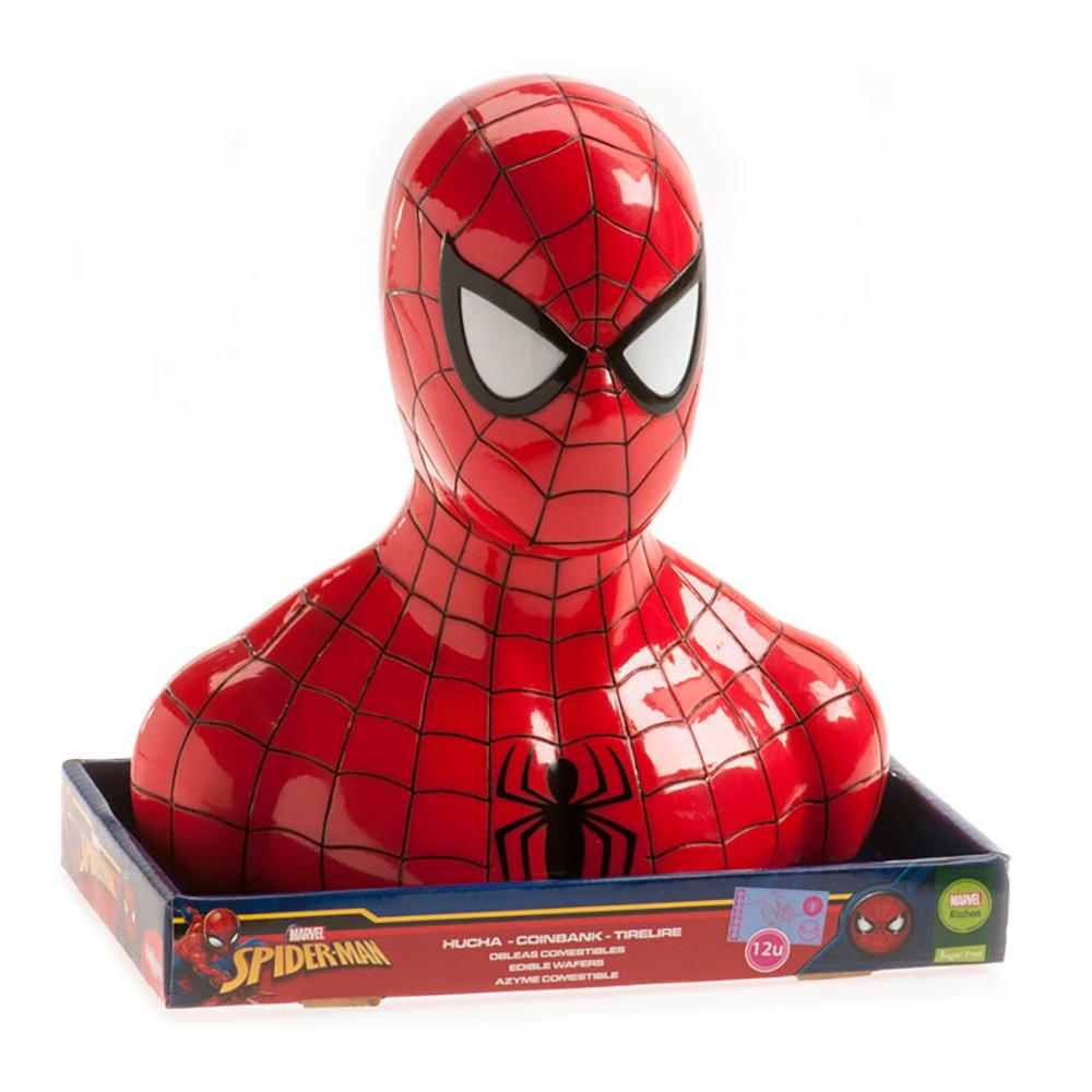 Tårtdekoration Sparbössa Spiderman