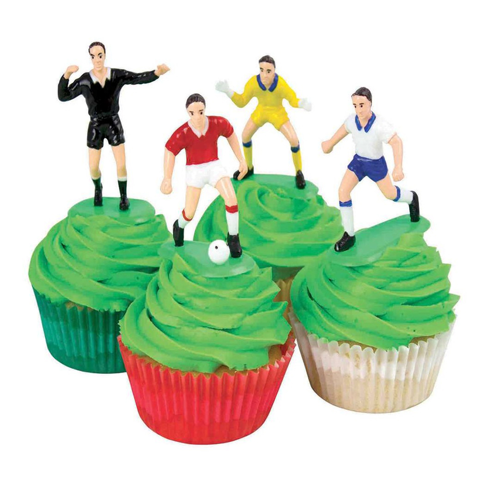 Tårtdekorationsset Fotboll - 9-pack