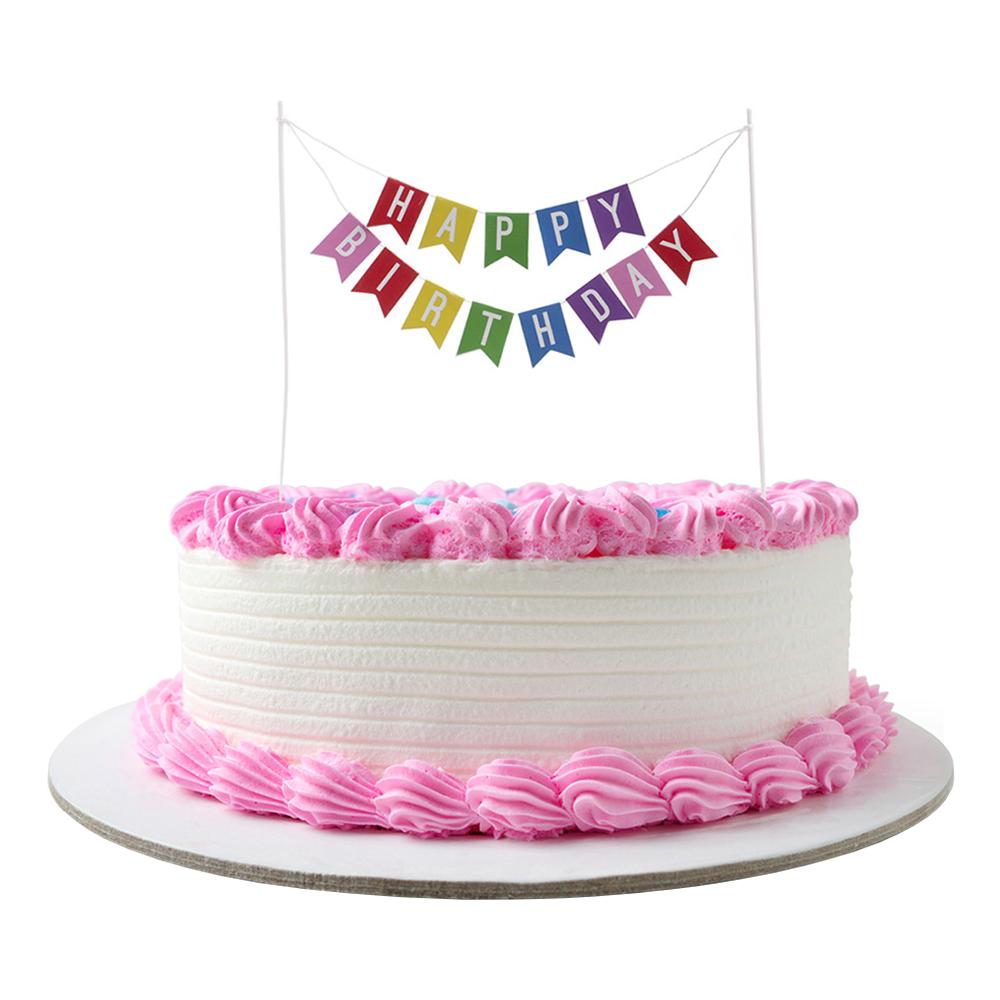 Tårtdekortion Happy Birthday