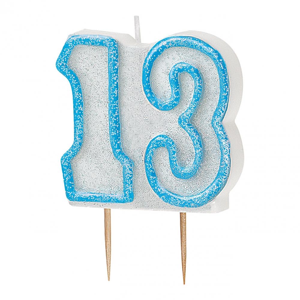 Tårtljus - Tårtljus Blå/Vit 13
