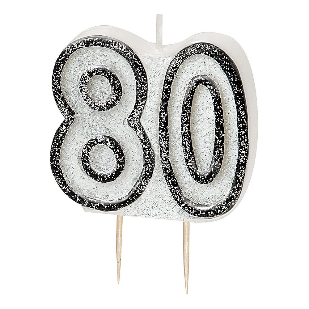 Tårtljus Glitter Svart 80 | Hem//Teman//Färger//Svart | Partyoutlet