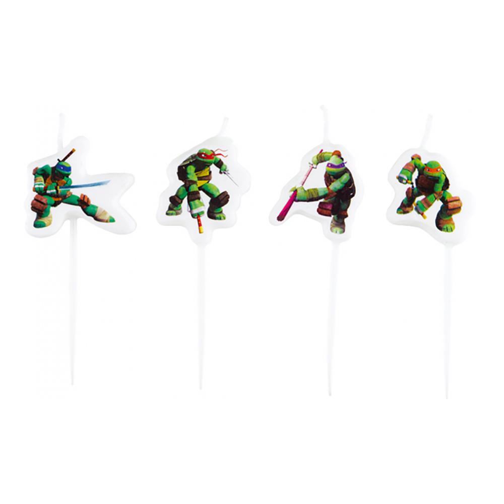 Tårtljus Mini Ninja Turtles - 4-pack