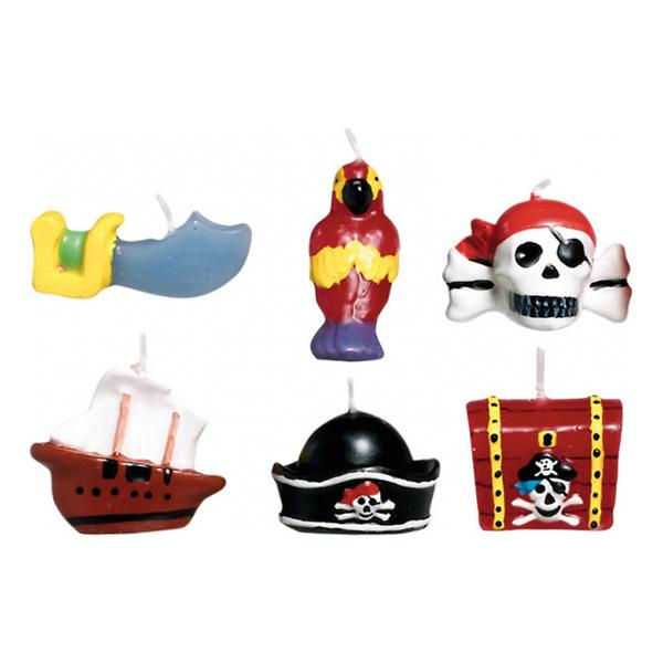 Tårtljus Pirat - 6-pack