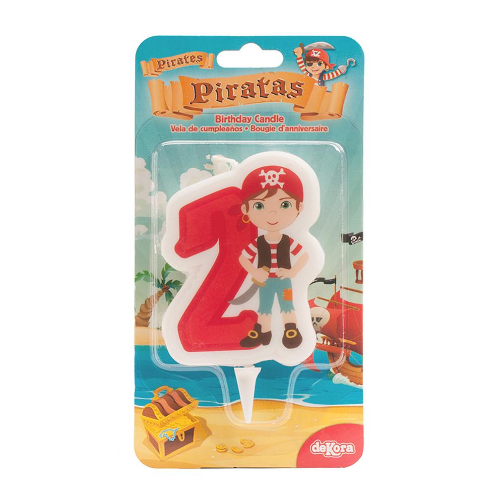 Tårtljus Siffra Pirat - 2 år
