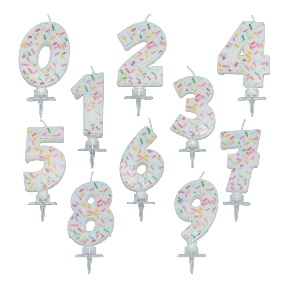 Tårtljus Siffra Strössel - Siffra 5