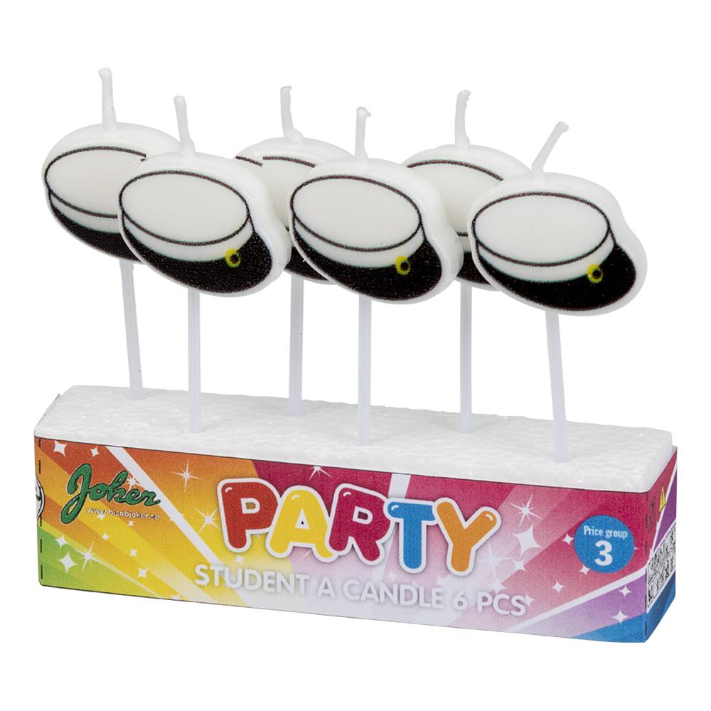 Tårtljus Studentmössor - 6-pack