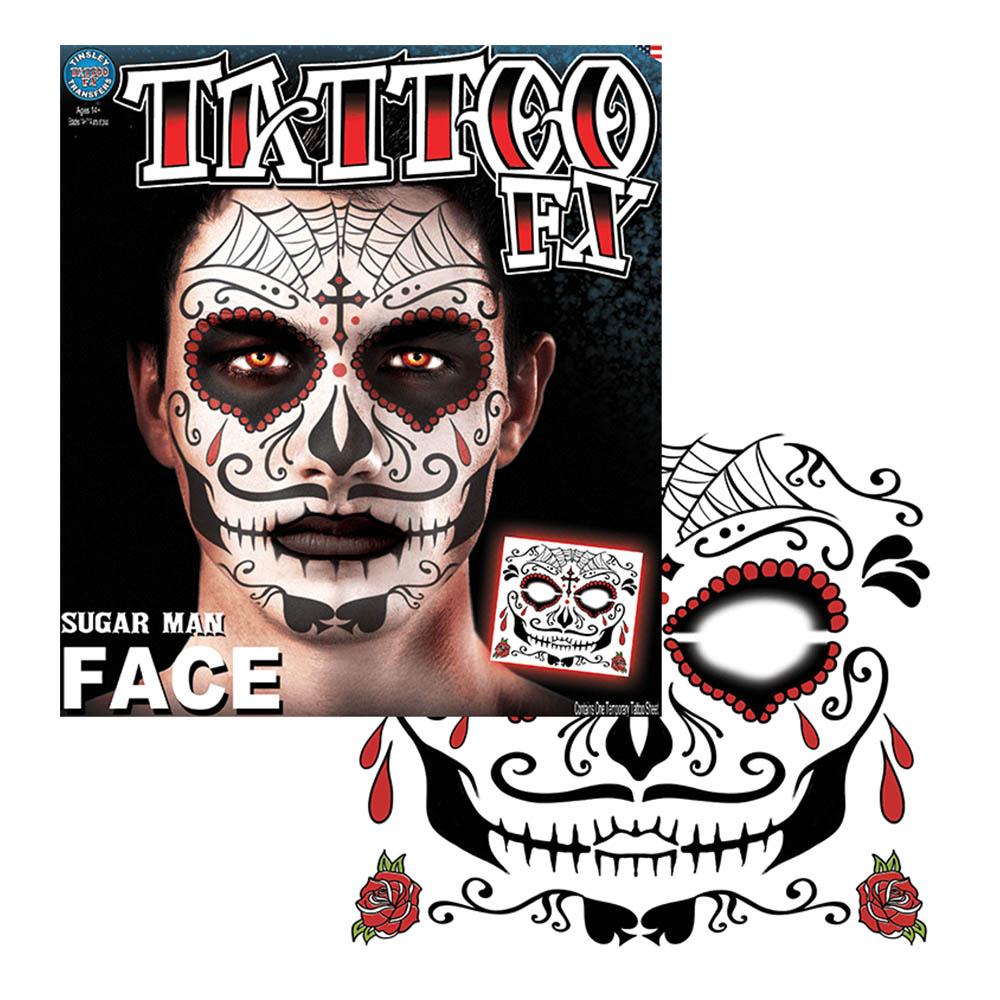 Tattoo FX Sugar Man Face