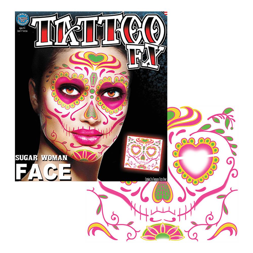 Tattoo FX Sugar Woman Face