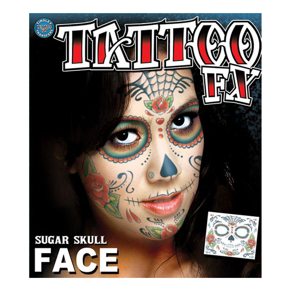 Tatueringar för Ansikte Sugar Skull
