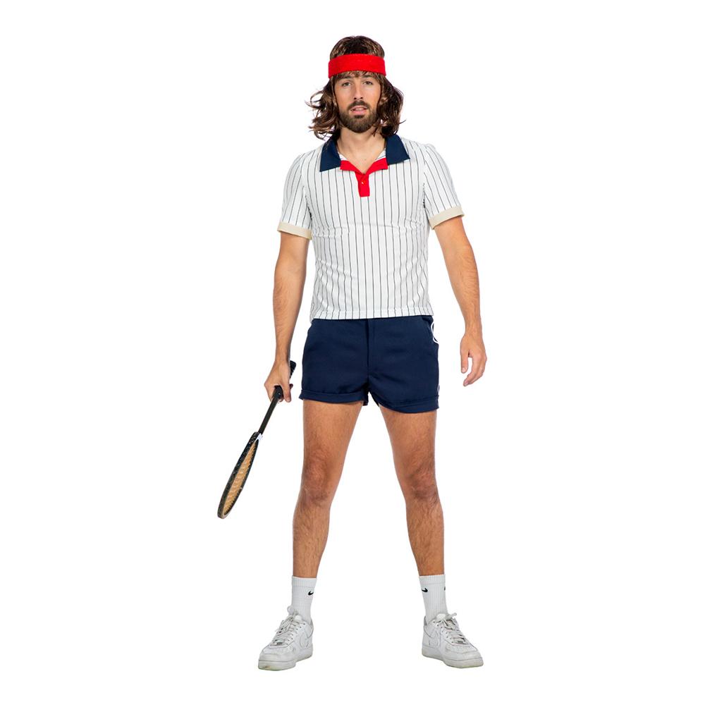 Tennisspelare Retro Herr Maskeraddräkt - 50
