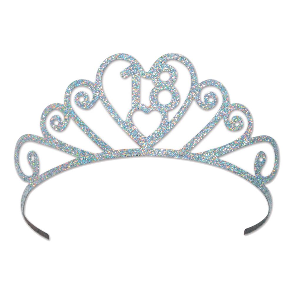 Tiara 18 Glittrig - One size