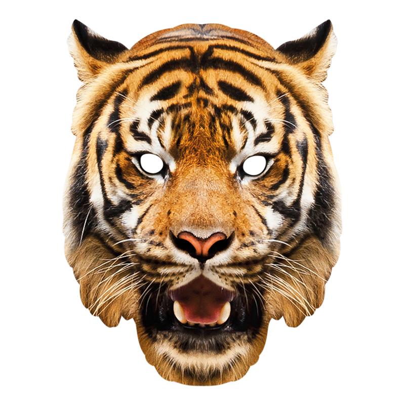 Pappmasker - Tiger Pappmask