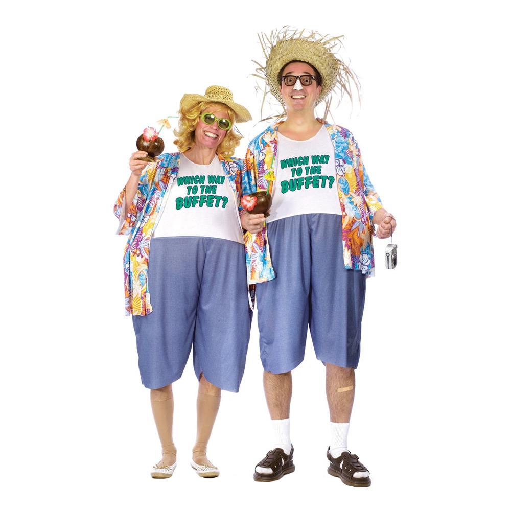 Tjock Turist Maskeraddräkt - One size