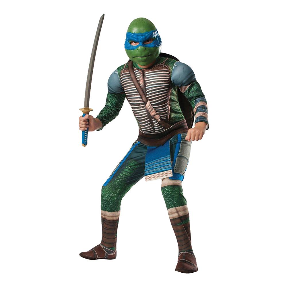 TMNT Leonardo med Muskler Deluxe Barn Maskeraddräkt - One size