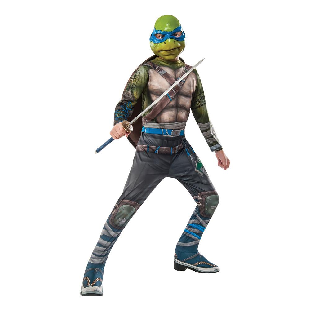 TMNT Leonardo Warrior Barn Maskeraddräkt - One size
