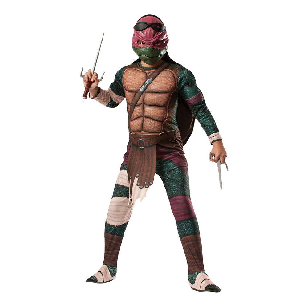 TMNT Raphael Deluxe Barn Maskeraddräkt - One size