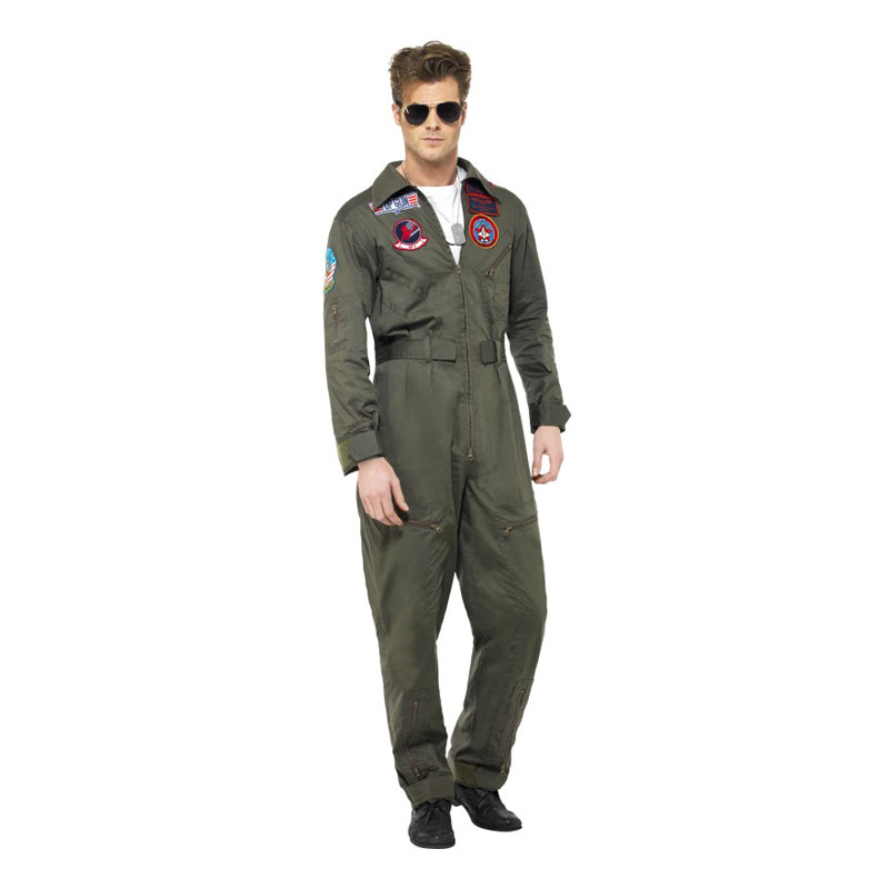 Top Gun Deluxe Maskeraddräkt - Medium