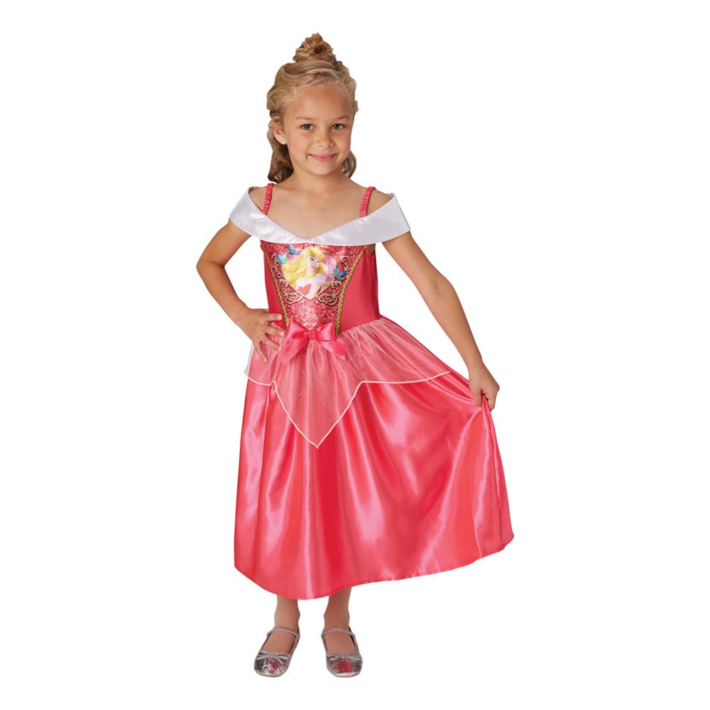 Törnrosa Barn Paljettklänning Maskeraddräkt - Small