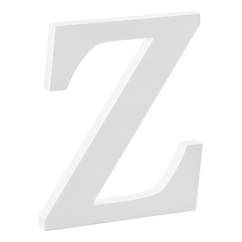 Träbokstäver Vita - Bokstav Z