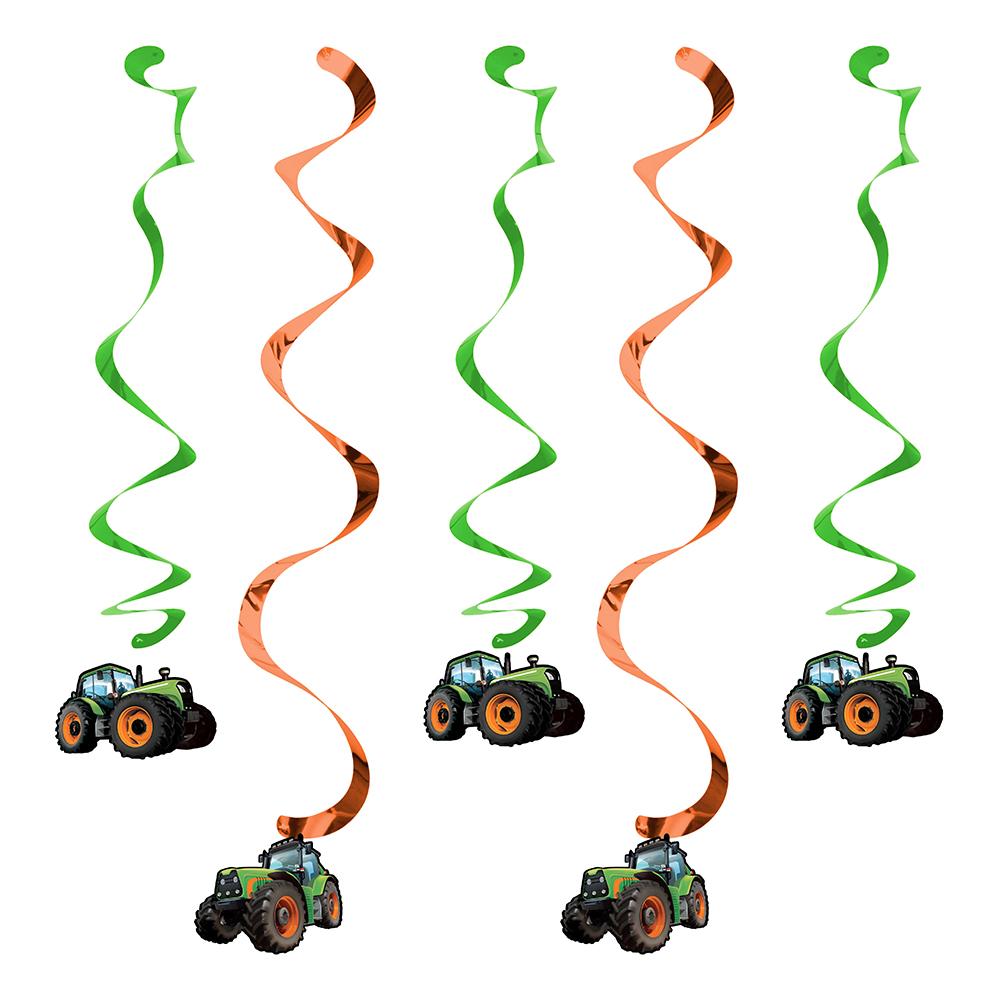 Tractor Time Hängande Dekoration - 5-pack