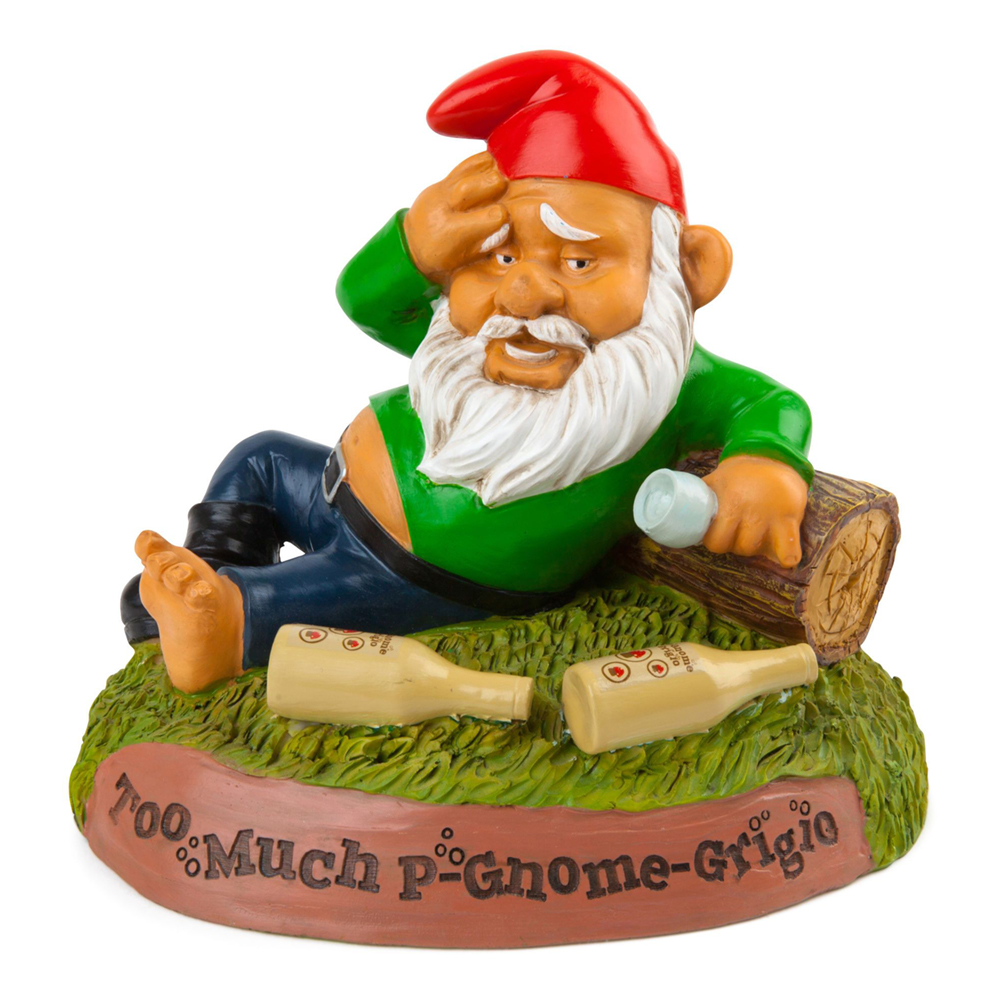 Trädgårdstomte Hungover Gnome