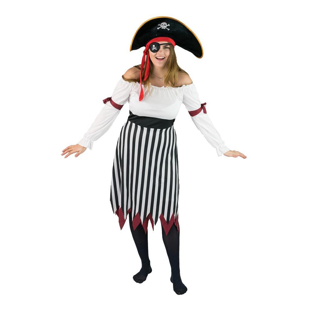 Traditionell Piratklänning Budget Maskeraddräkt - One size