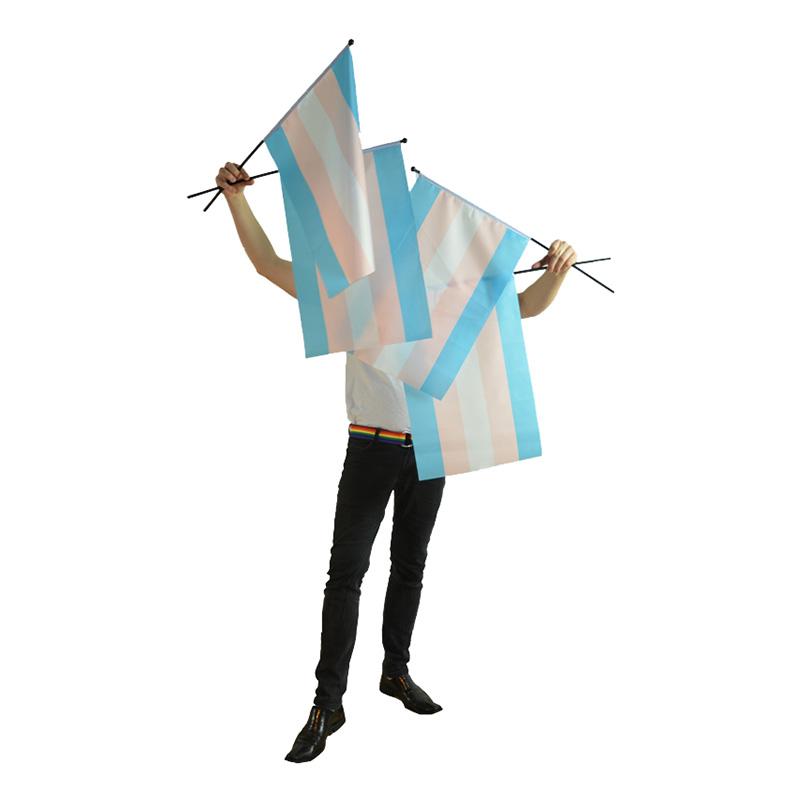 Transflagga på Pinne