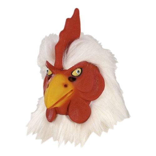 Djurmasker - Tuppmask med Päls - One size