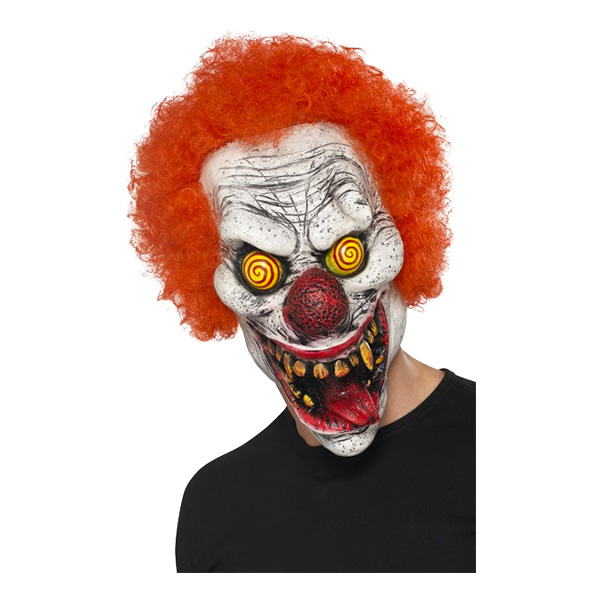 Elak Clown med Hår Mask - One size