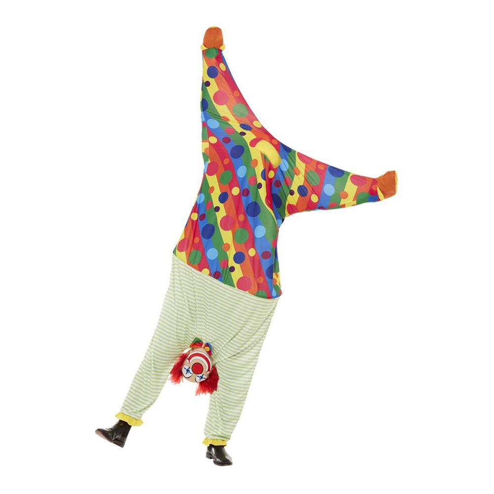 Upp och Nedvänd Clown Maskeraddräkt - One size