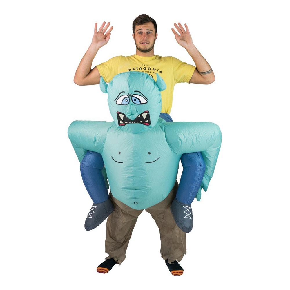 Uppblåsbar Bärande Troll Maskeraddräkt - One size