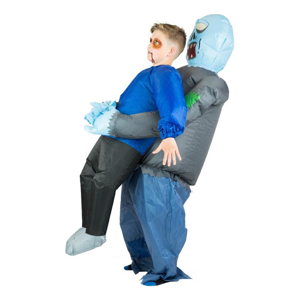 Uppblåsbar Bärande Zombie Barn Maskeraddräkt - One size