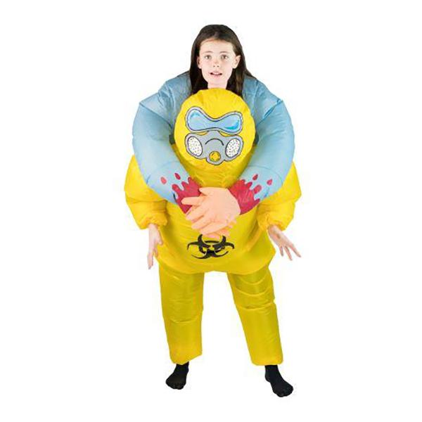 Uppblåsbar Biohazard Halloween Barn Maskeraddräkt - One size