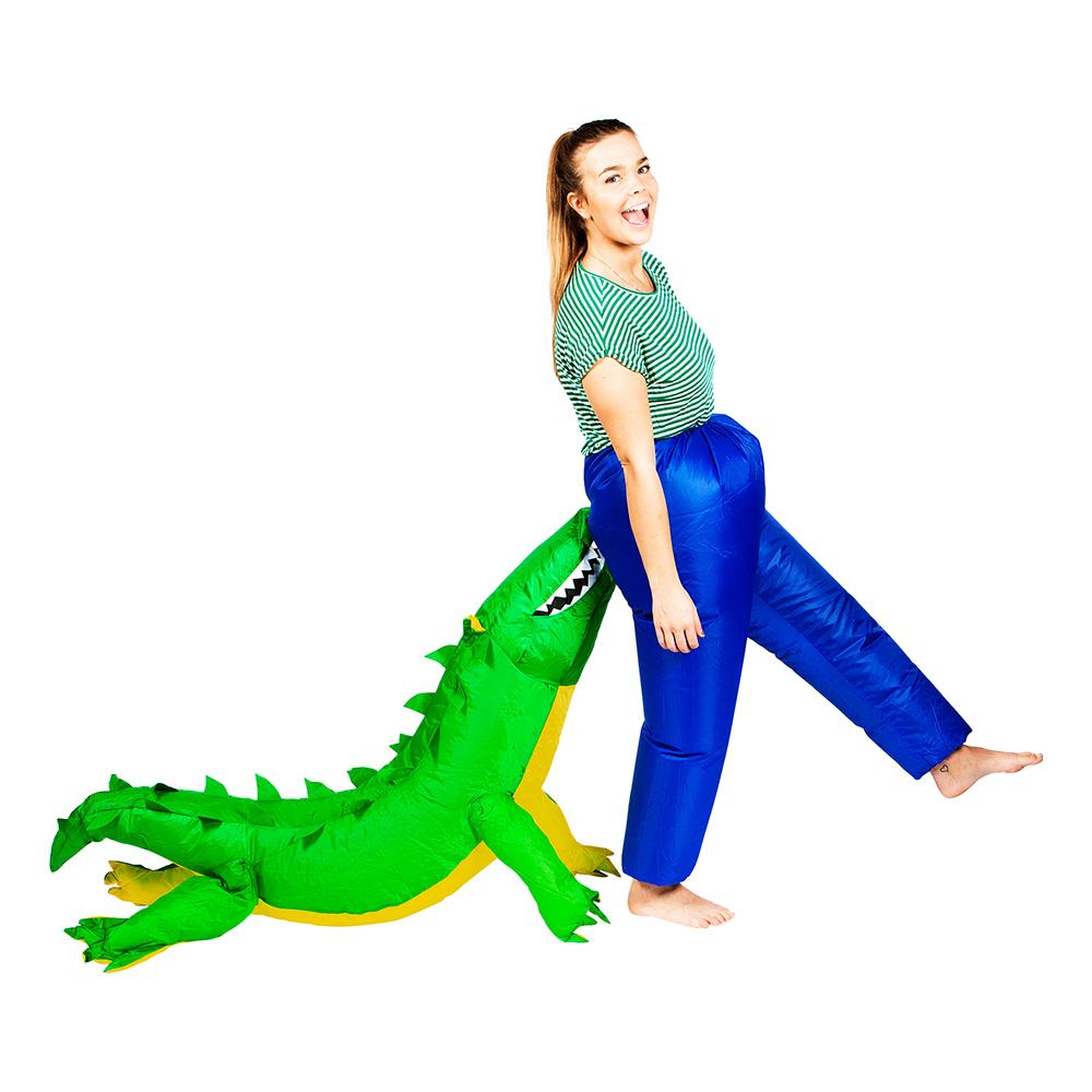 Uppblåsbar Bitande Krokodil Maskeraddräkt - One size