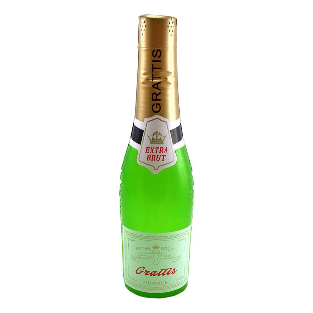 Uppblåsbar Champagneflaska Grattis