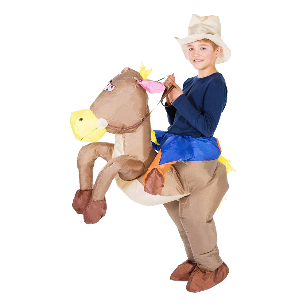 Uppblåsbar Cowboy Barn Maskeraddräkt - One size
