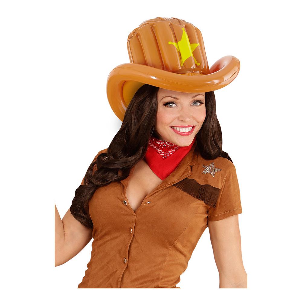 Uppblåsbar Cowboyhatt - One size