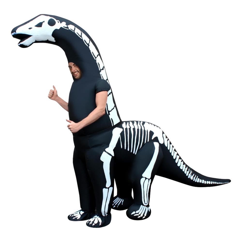 Diplodocus dräkter - Uppblåsbar Diplodocus Skelett Maskeraddräkt - One size