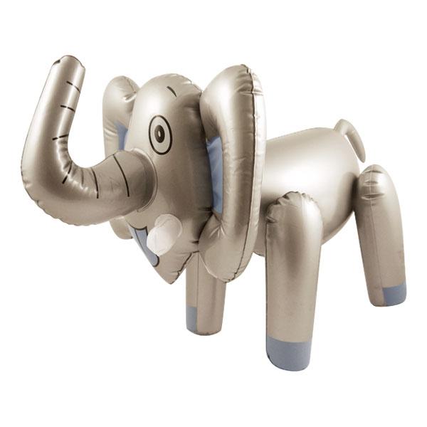 Uppblåsbar Elefant Silver
